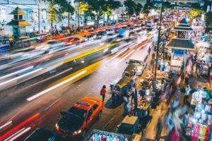 street time lapse photography