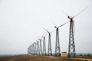 windmills on road